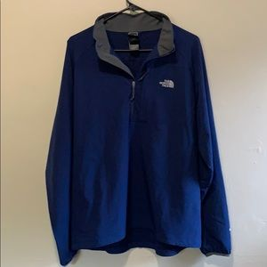 Large The North Face Navy Blue Apex Half Zip
